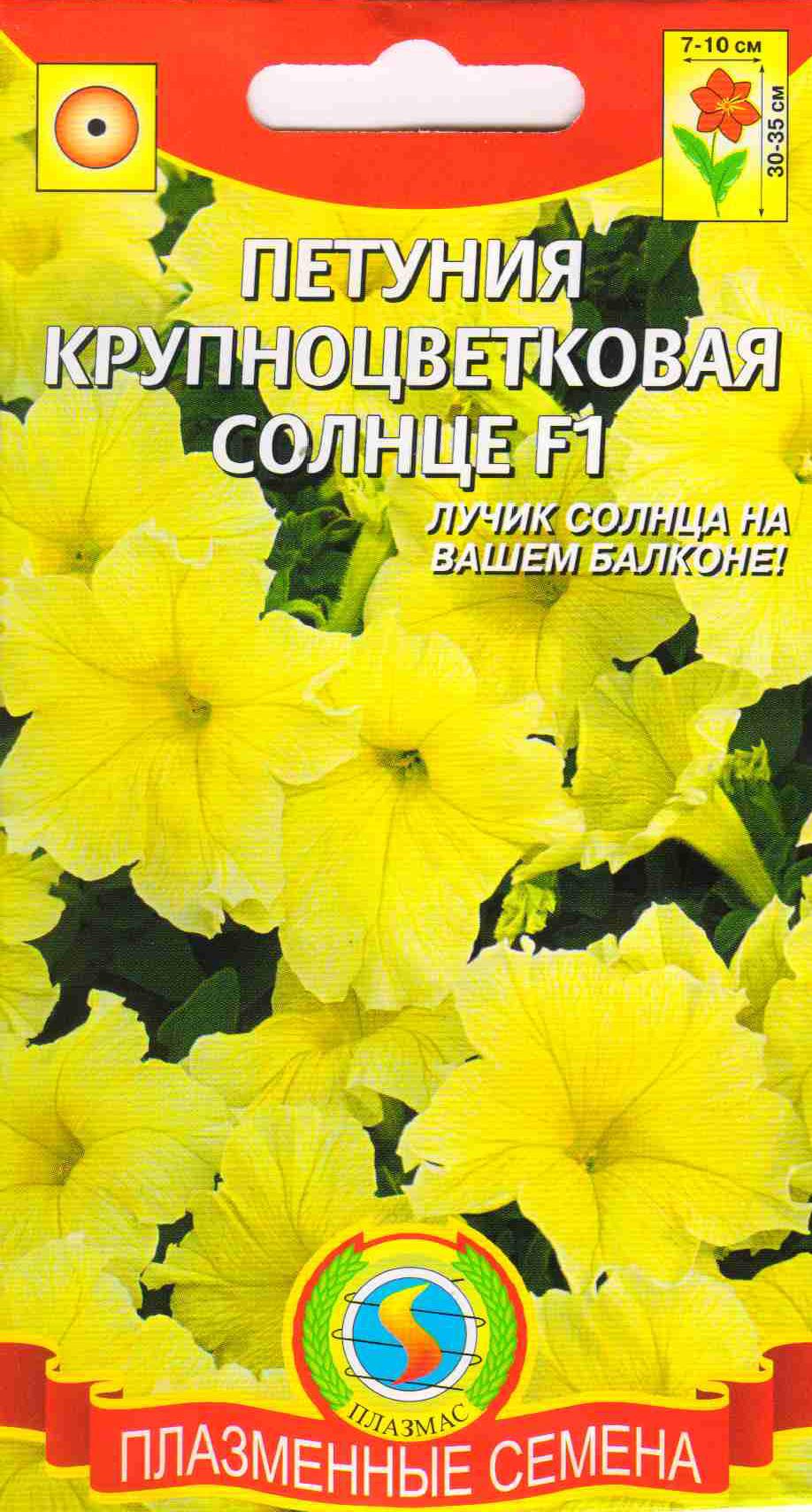 Петуния крупноцветковая солнце f1 - купить семена цветов в и.